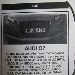 A typical 'scam' advert