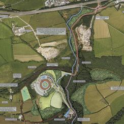 Plan of the proposed waste incinerator site