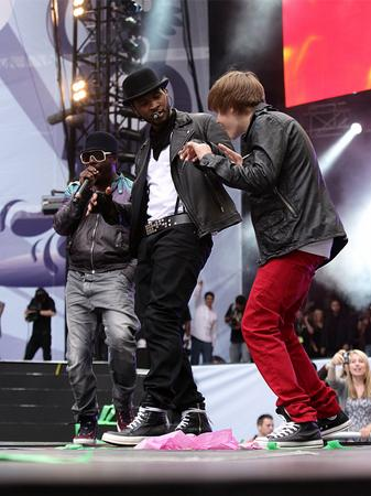 Usher and Justin Bieber