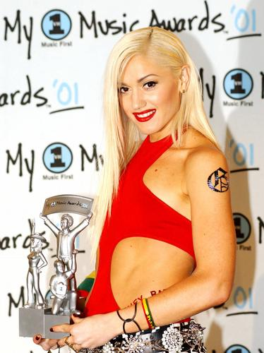 Celebs with tattoos Gwen Stefani. Previous Image 1 of 27 Next