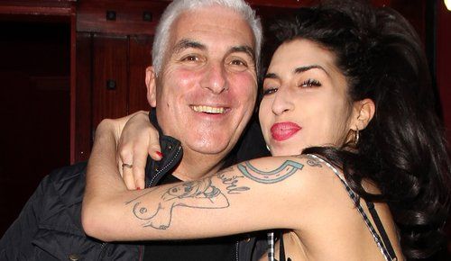 Amy with her father, Mitch
