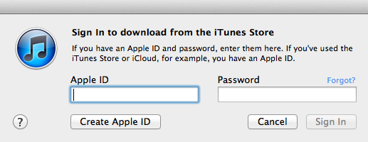 itunes help screen shot
