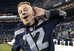 Macklemore at the NFL football game in Seattle