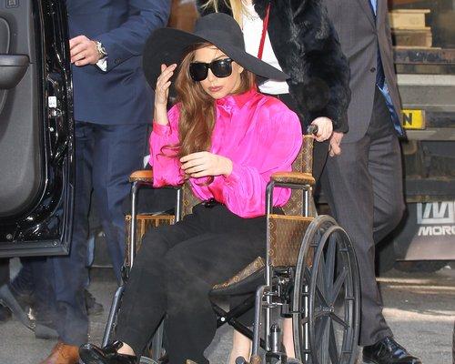 Lady Gaga In A Wheelchair