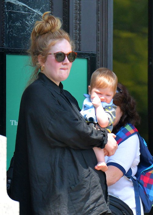 Adele Pictured Out With Baby Boy Angelo For First Time In ...