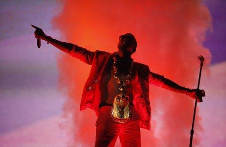 Kanye West performing live