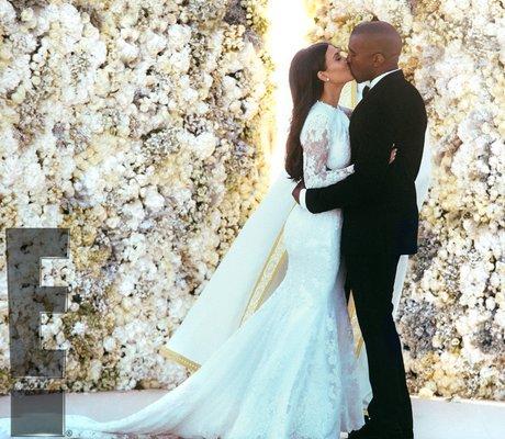 Kanye West wedding photo