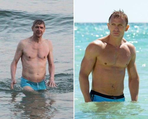 Arsene Wenger Daniel Craig