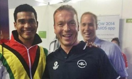 Prince William photobomb Commonwealth Games 2014