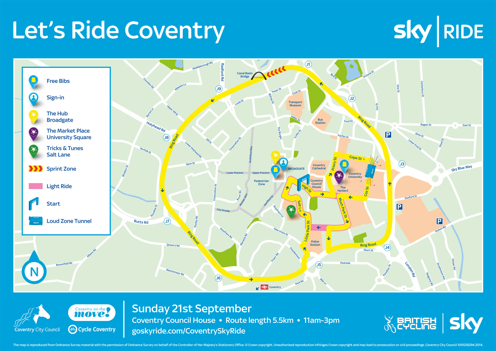 Sky Ride Coventry Heart West Midlands
