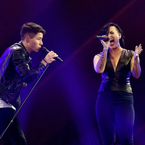 Nick Jonas With Demi Lovato