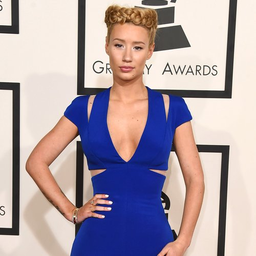Iggy Azalea grammy awards dress and hair 2015