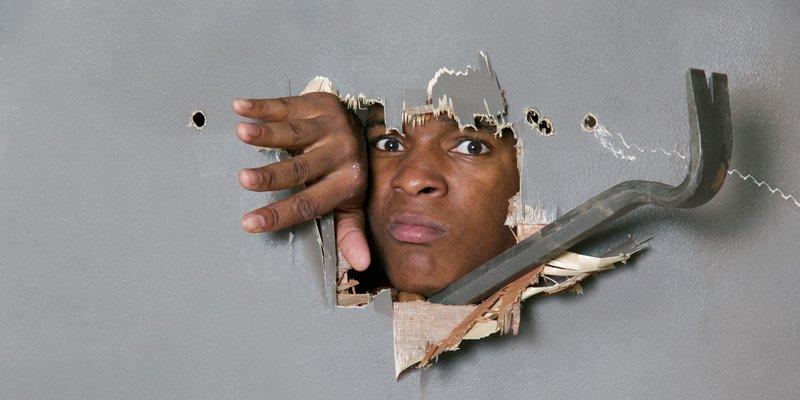 breaking through a wall