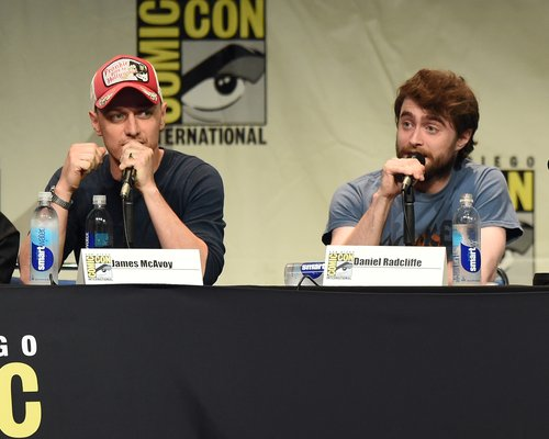 Daniel Radcliffe and James McAvoy at Comic Con 201