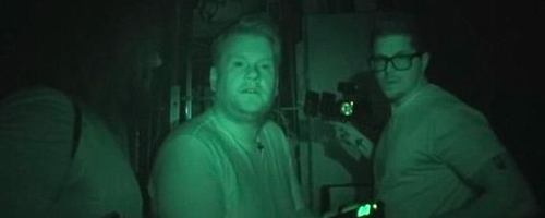 James Corden Goes Ghost Hunting