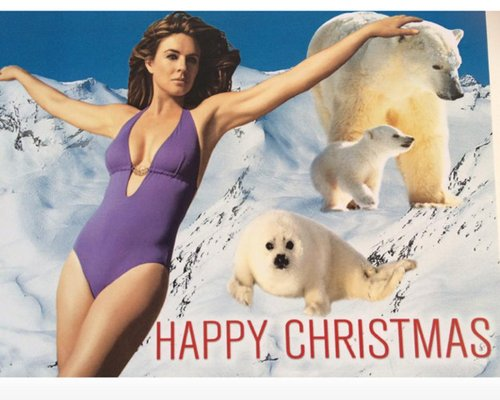 Christmas Come Hurley! Elizabeth Hurley Releases Christmas Card ...