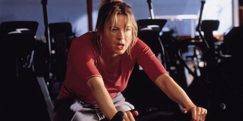Bridget Jones exercise bike