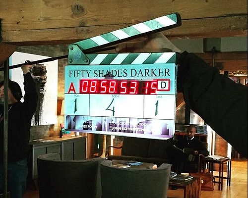 Fifty Shades Darker Film Set El James