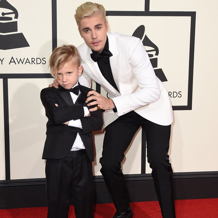 justin bieber�s little brother jaxon stole the show and