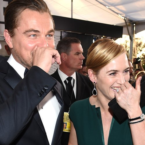 Leonardo DiCaprio and Kate Winslet Laughing