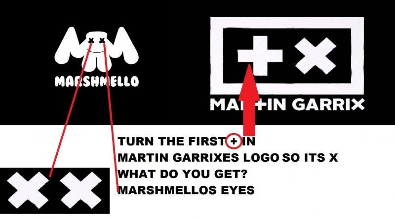 Martin Garrix / Marshmello logos
