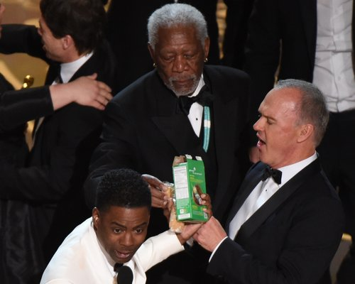 Chris Rock Selling Scout Cookies Oscars Morgan Fre