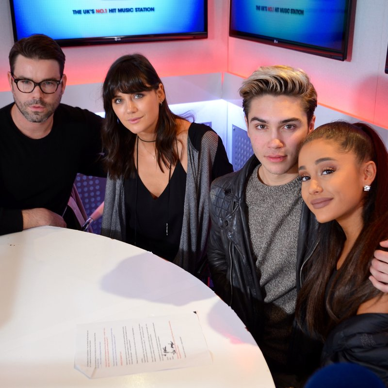Dave, George and Lilah with Ariana Grande