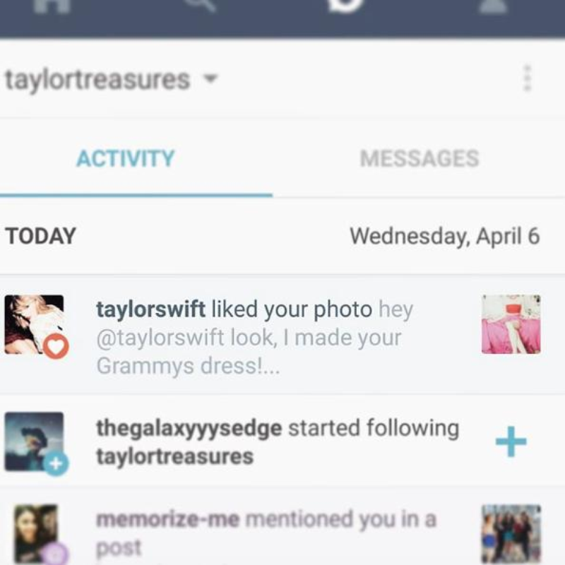 Taylor Swift Lotte Lutjes Instagram