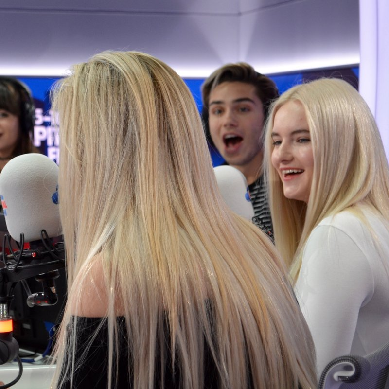 Clean Bandit and Louisa Johnson with Dave Berry, George and Lilah