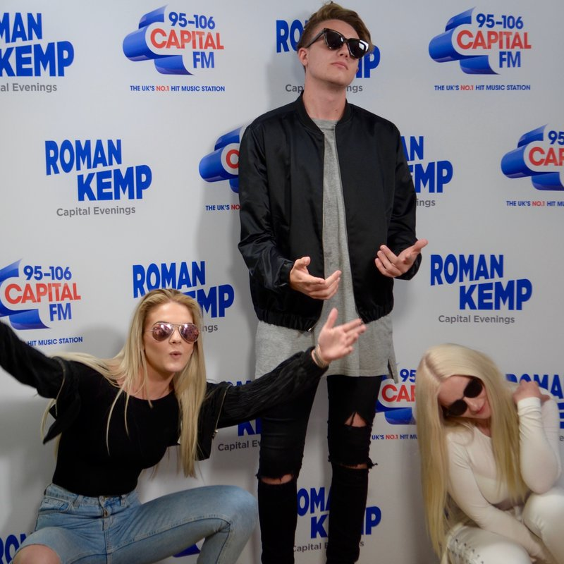 Louisa Johnson and Grace with Roman Kemp