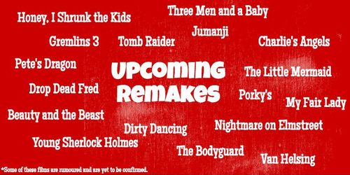 Upcoming Hollywood remakes pullout