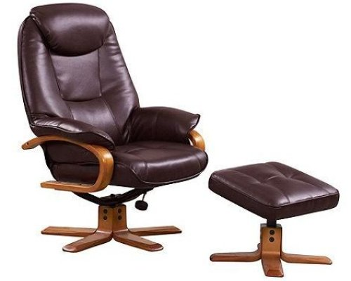 Debenhams Bonded leather 'Bjorn' recliner chair an