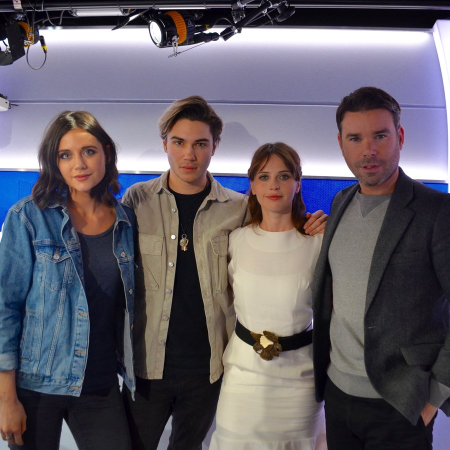 Felicity Jones with Dave Berry, George and Lilah