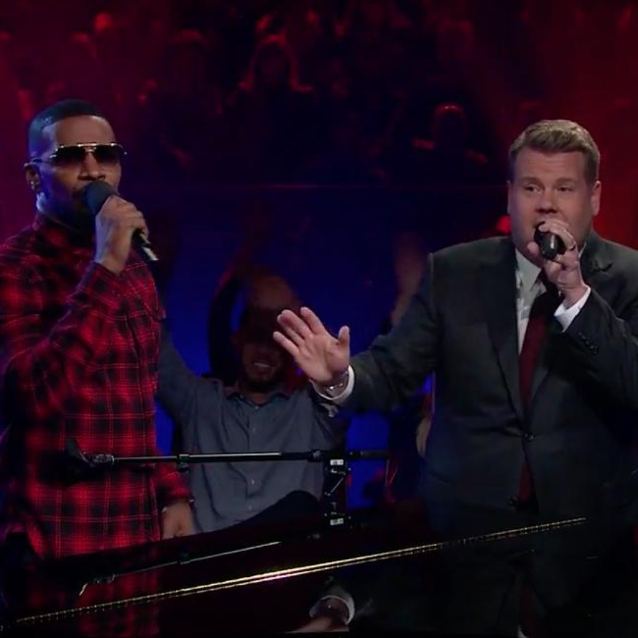James Corden and Jamie Foxx Public Domain Songs