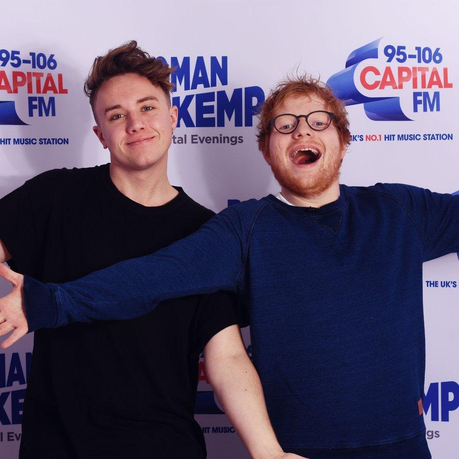 Ed Sheeran and Roman Kemp