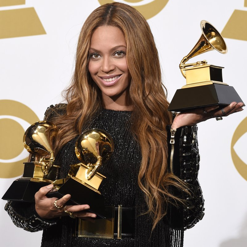 Beyonce at the 2015 GRAMMY Awards