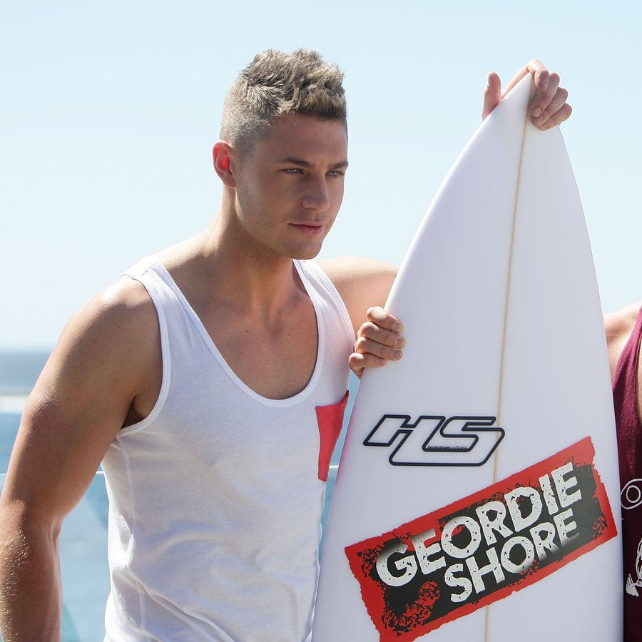 Scott Timlin and James Tindale Geordie Shore Season 6 Photo Call At Bondi Beach