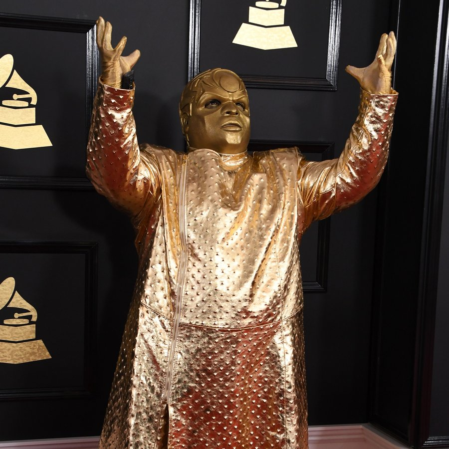 Cee Lo Green GRAMMYs Gold Suit