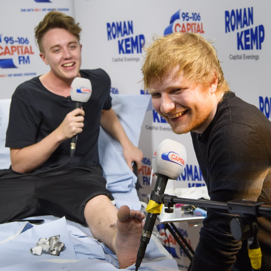 Ed Sheeran tattoos Roman Kemp live on air 3