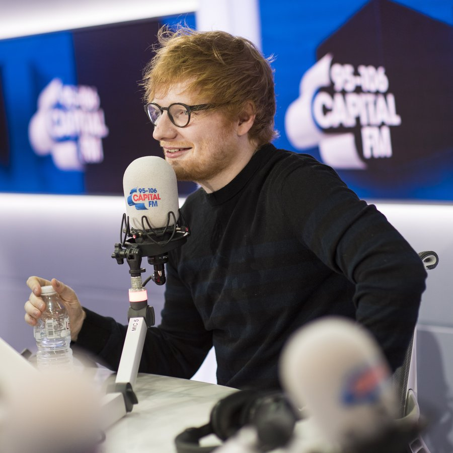 Ed Sheeran tattoos Roman Kemp live on air 6