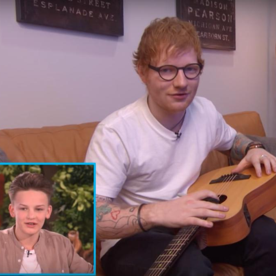 Ellen Ed Sheeran A Teen Singer-Songwriter's Superstar Surprise