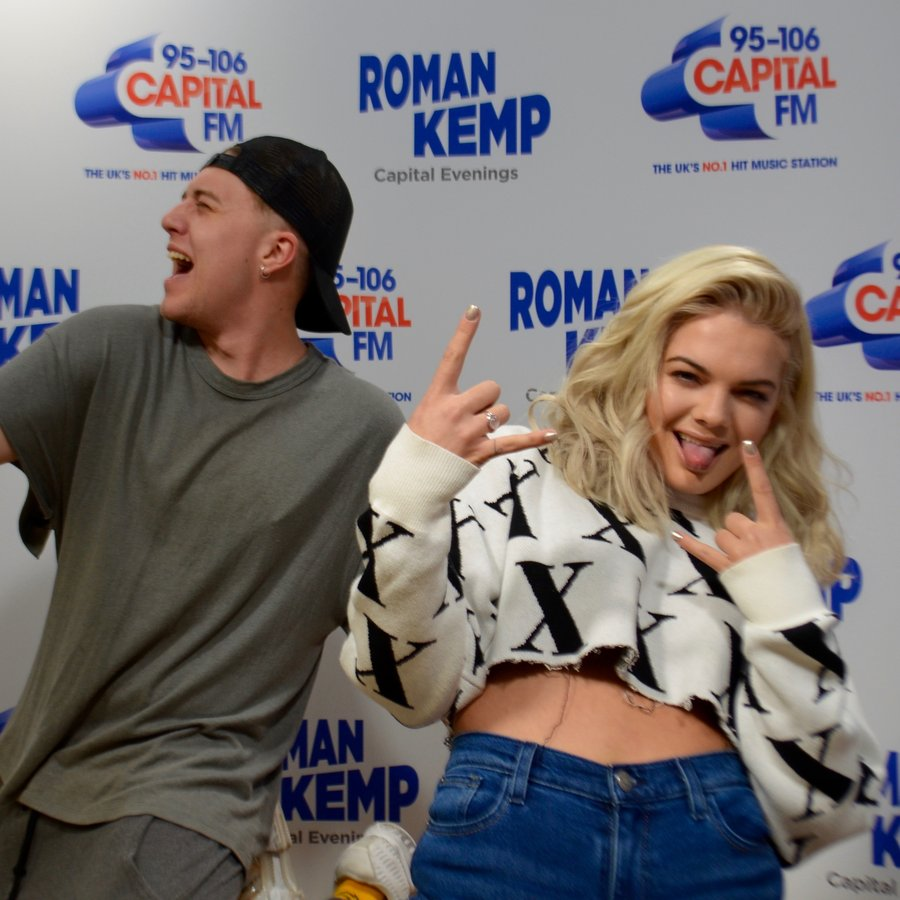 Louisa Johnson with Roman Kemp