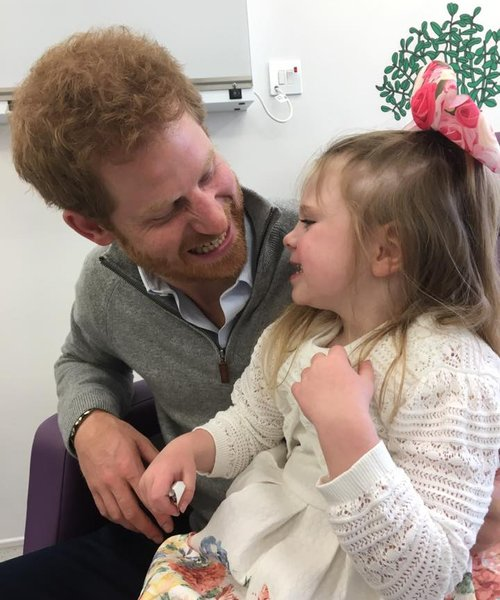 Prince Harry reunited with Wellchild boy Ollie Carroll