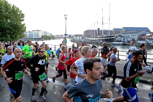 Runners during the Bristol Half Marathon.