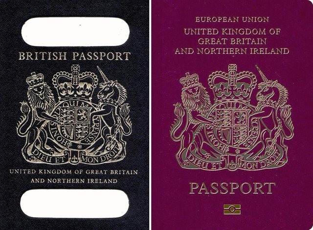Back to blue for British passports after Brexit