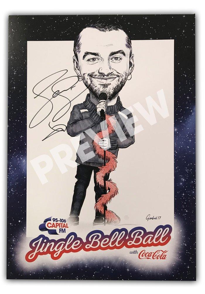 sam smith signed photo