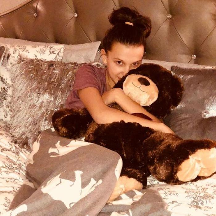 Millie Bobby Brown Jacob Sartorius Relationship Teddy Bear Present Instagram