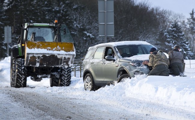 Met Office upgrades snow warning to amber alert for Northumberland