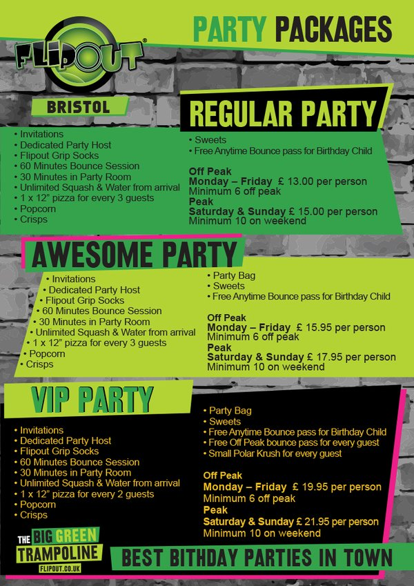 Win A Party Package At Flip Out Bristol Heart Bristol