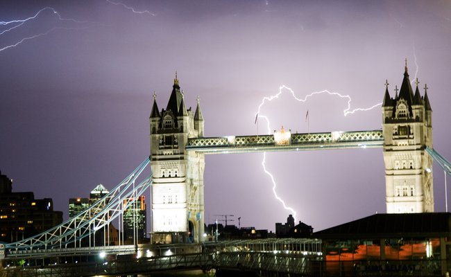 Credit Getty- a thunderstorm over London